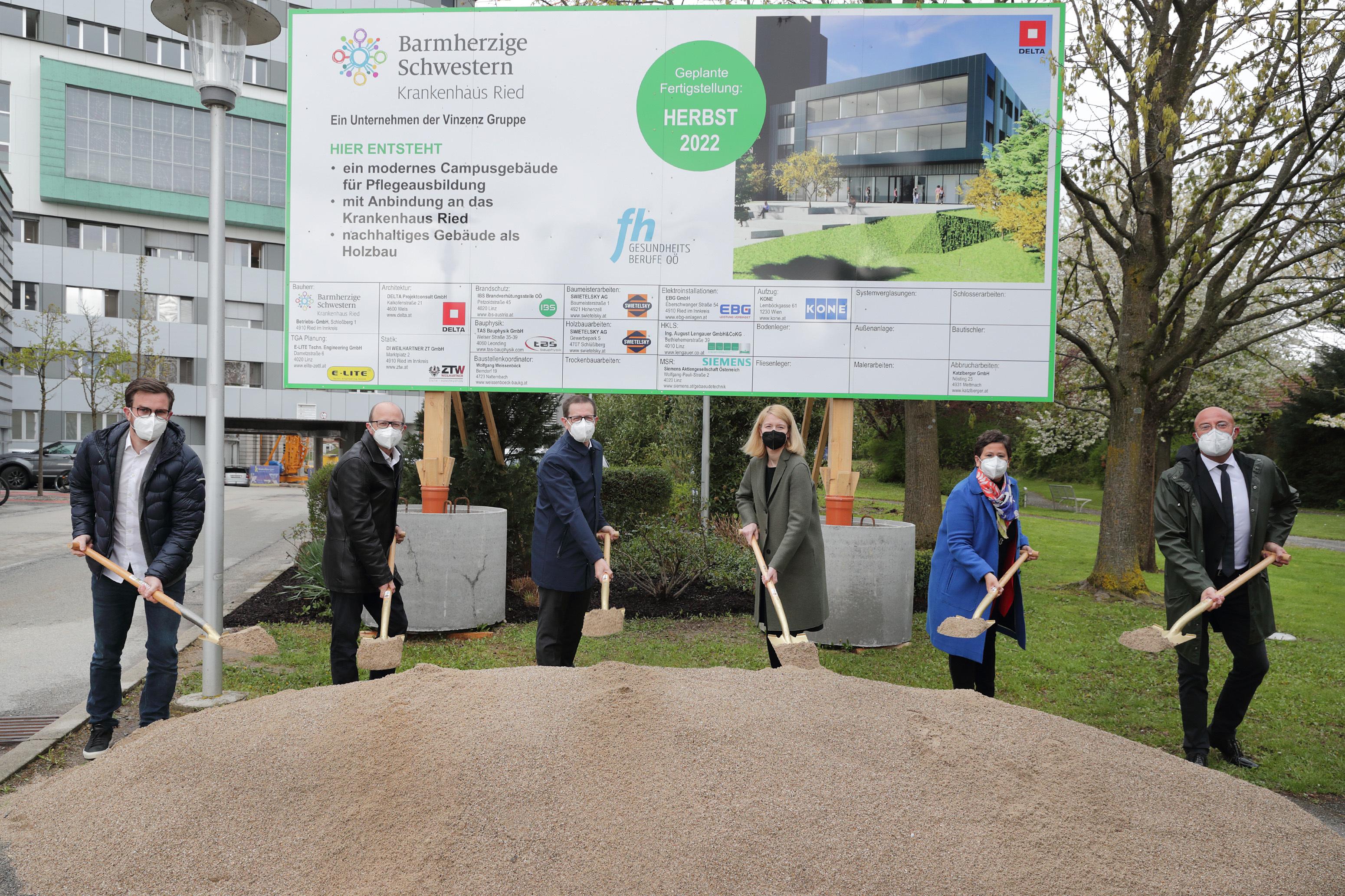 Spatenstich für neues Campusgebäude in Ried
