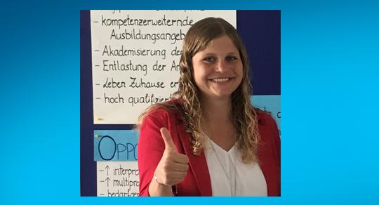 Brigitte Unger erreicht 3. Platz in der Kategorie Gesundheitsversorgung beim Health Research Award 2020 (Fotocredit: Brigitte Unger)