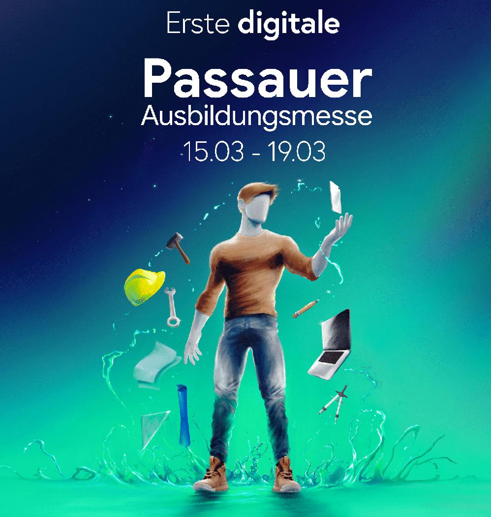 Plakat zur ersten digitalen Passauer Ausbildungsmesse (Fotocredit: www.oabat.de)