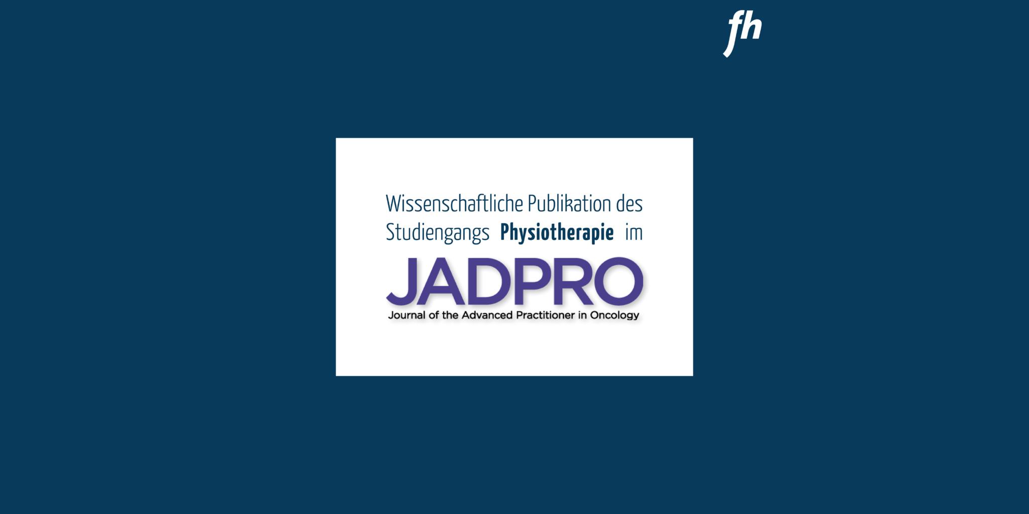 Wissenschaftliche Publikation des Studienganges Physiotherapie im JADPRO Journal